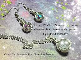 diy wire wrapped charms for jewelry projects by