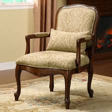 Traditional Accent Chair Shop Furniture Of America Waterville Cherry Linen