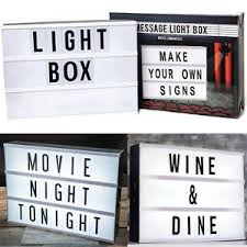 make your own light up sign a4 light up letter box cinematic led sign wedding party cinema