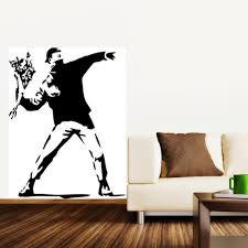 compare prices on banksy wallpaper online shopping buy low price banksy wall stickers vinyl decal wall decor mural wallpaper wall art home decoration china