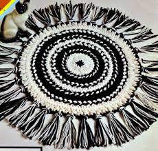 hairpin lace loom hairpin lace circular rug pattern purple