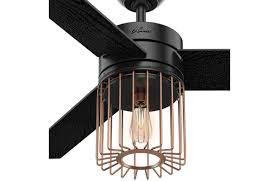 Black Ceiling Fan With Light Hunter 59239 Ronan Matte Black Ceiling Fan Ceilingfan Com