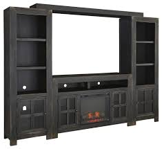 entertainment wall unit w large tv stand fireplace bridge and
