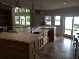 Concrete Kitchen Design Grey And Tan Concrete Kitchen Counter Top