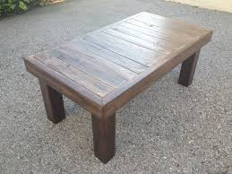 Unique Wooden Coffee Table Simple Dark Brown Finished Rectangular Reclaimed Wood Coffee Table