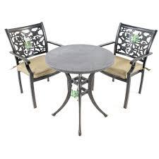 Garden Bistro Table Celtic Cast Aluminium Garden Bistro Set With Spraystone Top 359