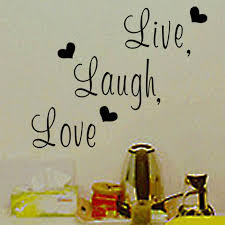Home Decor Decals Aliexpress Com Buy Live Laugh Love Inspirational Quote Vinyl