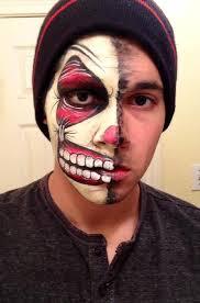 half clown face paint face painting pinterest clown faces