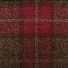Plaid Curtain Material Scotish Upholstery Wool Woven Tartan Check Plaid Curtain