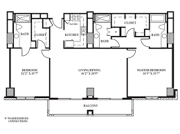 Master Bedroom Bath Floor Plans Floor Plan H 1 408 Sq Ft The Towers On Park Lane