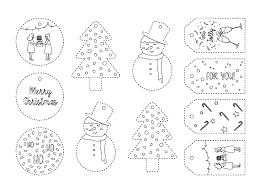 free christmas printables xmas gift tags colouring