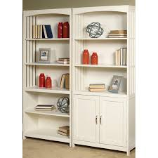 sauder library bookcase sauder cottage road library bookcase with doors hayneedle
