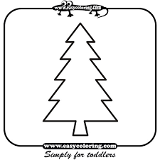 tree six simple trees easy coloring pages for toddlers