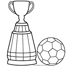 World Cup Trophy With Soccer Ball Coloring Page World Cup Cup Coloring Page