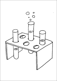 science class test tubes and stand coloring page