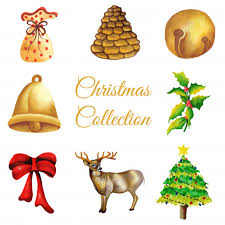 watercolor ornaments collection vector free