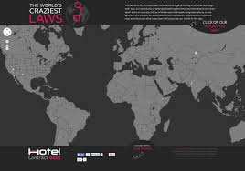 Interactive World Map The World U0027s Craziest Laws An Interactive Map Visual Ly