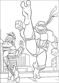 shredder ninja turtle coloring free printable