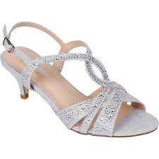 wedding shoes low heel silver women s silver dress shoes low heel sandals wedding rhinestone