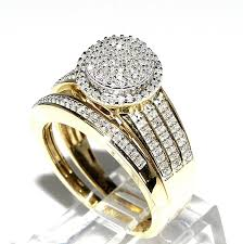 gold wedding set rings midwestjewellery his 10k yellow gold halo
