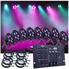american dj lighting equipment up lighting system 8 american dj up lights w easy controller upsys