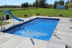 inground pool designs exterior swimming pools with rock accent combined with straigh up