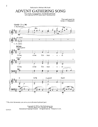 advent gathering song satb by chepponis j j w pepper sheet