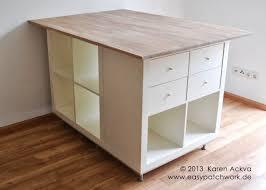 table de cuisine sur mesure ikea une table de couture sur mesure avec kallax tables de couture