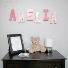 Home Letters Decoration Decorative Wooden Letters Perfect Gift For New Baby The Love Nerds