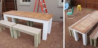 Plans To Build A Picnic Table And Benches by 77 Diy Bench Ideas U2013 Storage Pallet Garden Cushion Rilane