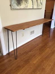 oak sofa tables hand sculpted live edge foyer table console table sofa table