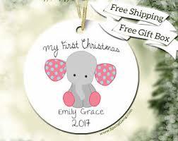custom baby ornaments elephant ornament etsy