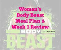 Beast Meal Plan Spreadsheet S Beast Week 1 Meal Plan The Fit