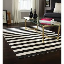 modern rectangle home trends area rug black and white stripe made