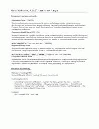 Examples For Resume by Cv Sample For Nursing