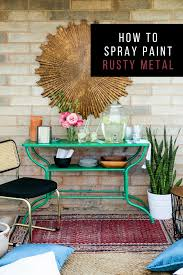 How To Spray Paint Patio Furniture How To Spray Paint Rusty Metal U2013 Hawthorne And Main