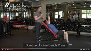 dumbbell incline bench press alternating apollo challenge