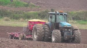 sowing with a ford 8770 tractor u0026 vaderstad rapid drill youtube