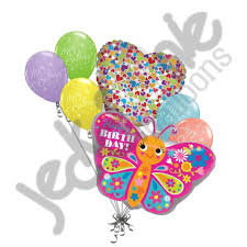 Butterfly Balloons Cute Colorful Happy Birthday Butterfly Balloon Bouquet