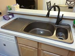 Kitchen Sink With Built In Drainboard by Corstone Kitchen Sink With Attached Drainboard In Cinnabar For