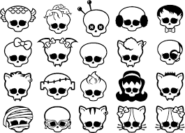 monster high symbols coloring pages getcoloringpages com