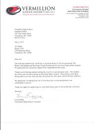 Thank You Letter After Sponsorship Meeting home page rotary club of vermillion