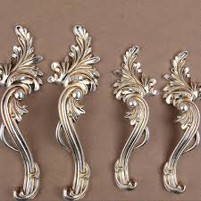 country kitchen cabinet pulls 2pcs shabby chic dresser drawer pulls handles antique silver french