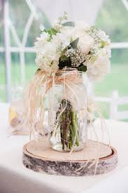 jar flower centerpieces rustic jar and birch wedding centerpiece ideas deer pearl