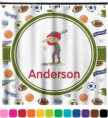 Sports Bathroom Accessories by Sports Shower Curtain Personalized Potty Training Concepts