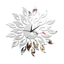 direct selling home decor new arrival direct selling mirror sun acrylic wall clocks 3d home