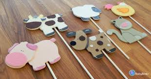 farm animal shapes cake toppers or party decorations cow pig