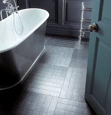 amtico flooring with underfloor heating in a grey bathroom