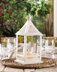belfort white candle lantern wedding centerpiece best decor com