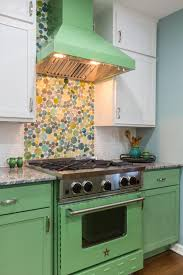 Green Tile Kitchen Backsplash by Our Favorite Kitchen Backsplashes Diy